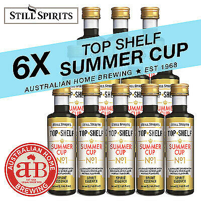 6x Still Spirits Top Shelf  Summer Cup No1  essence Pimms style home brew