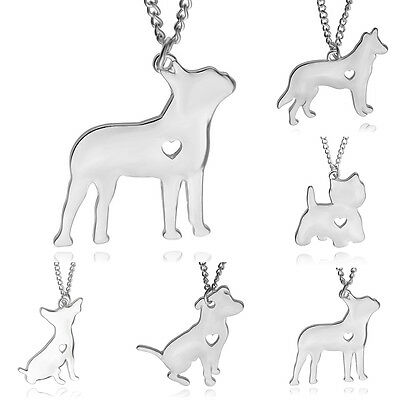 Silver Necklace With Antique Silver Chihuahua Dog Charm Pendant For Woman Gift