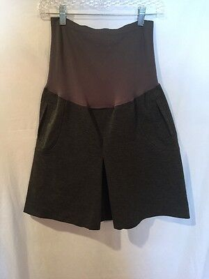 A PEA IN THE POD Secret Fit Belly Women's Size Large Gray EUC Skirt!