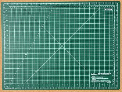 "Double Sided Self Healing Cutting Mat 5 Layer, Imperial & Metric 24x18"" 45x60cm"