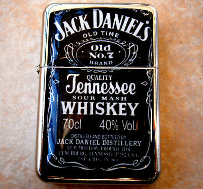 QUALITY STAR BRAND CIGARETTE LIGHTER USA JACK DANIELS old 7 & extra zippo flints