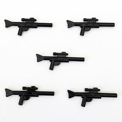 5 x STAR WARS lego BLASTER GUN SNIPER long RIFLE minifig weapons clone wars NEW