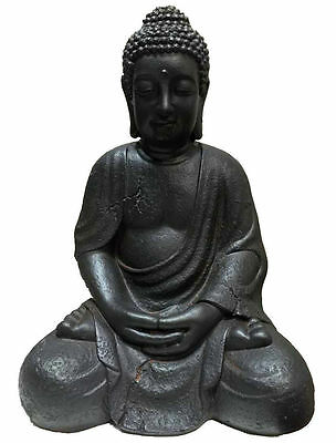 44cm Sitting Buddha Garden Statue Home Decor collectables Fengshui Asian