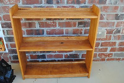 Rare Vintage Wood Bookshelf Book Shelf Display Case