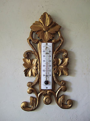 ANTIQUE  FRENCH GILT AND CARVED  WALL THERMOMETER19th C