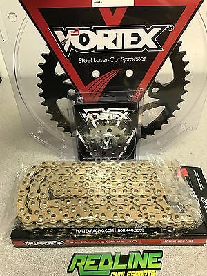 VORTEX 520 SPROCKET kit gold chain , front and rear for 2017-2018
