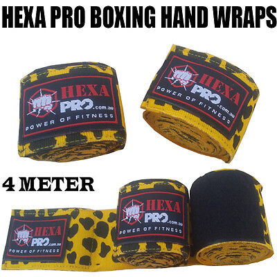 camo yellow Hand Wraps Boxing MMA UFC Wrist Guards cotton Bandages gloves straps