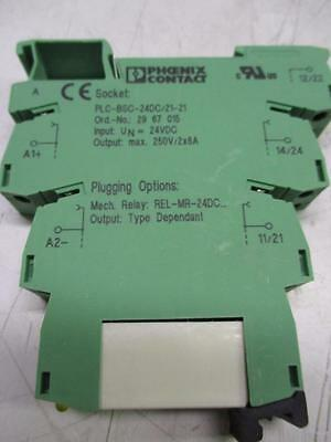 Phoenix Contact PLC-BSC-24DC/21-21 Relay Module 2967015 (Lot of 4)