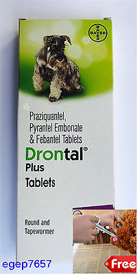 Drontal Plus for Dog 10 tablets Roundworm and Tapewormer 1 tablet for 10 kg Genu