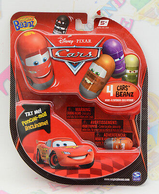 Mighty Beanz Disney Pixar Cars 4 Pack Bnib - 2011 - Rare