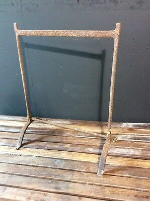 Antique Forged Iron Blacksmiths Trestles -Industrial-Decorative-Plants- Patio