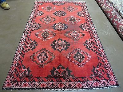 4'X6' Antique Hand Made Persian Hamadan Malayer Mousel Wool Rug  Veg Dyes