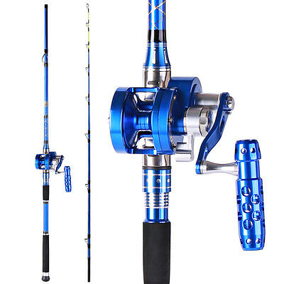 Casting Boat Jigging Saltwater Fishing Rod with Reel Combos Set Fast Shipping