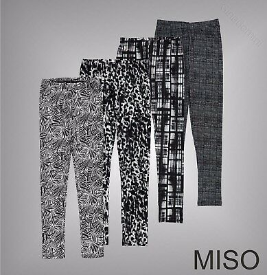 Junior Girls Branded Miso Stylish Luxury All Over Print Leggings Size Age 7-13