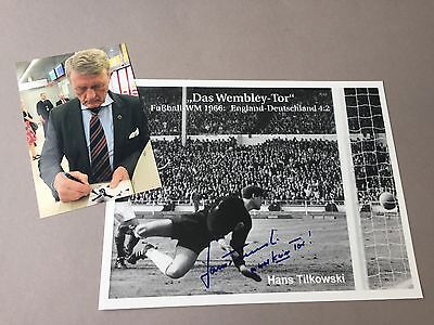 HANS TILKOWSKI world cup 1966 Germany 'It was not a goal' In-perso 11 x 8 inches