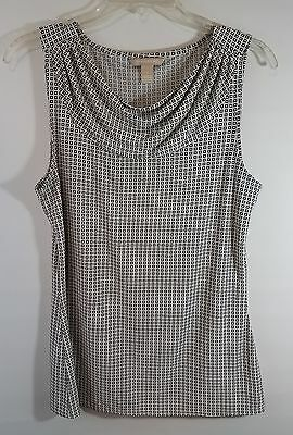 71ff74fc8682ac BANANA REPUBLIC Women's Tank Top Shirt Sleeveless Small Black Ivory
