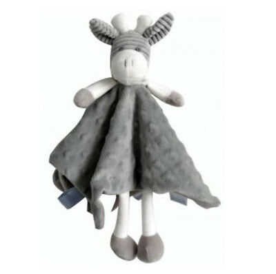 Giraffe Comforter Security Blanket Baby Toy - Grey