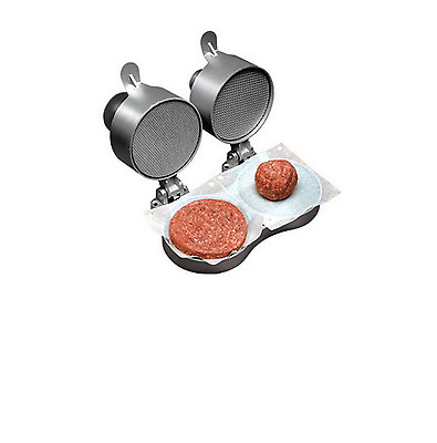 Burger Patty Maker Double Design Machine Non-stick Teflon-coated Spring-loaded