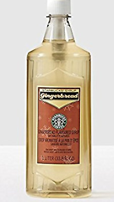 NEW Starbucks Toasted Coconut Flavored Syrup 1 Liter 33.8 fl oz Bottle - NO PUMP