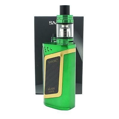Smok Alien Kit - 220W Tc Mod - Tfv8 Baby Tank /green With Gold 100 % Authentic
