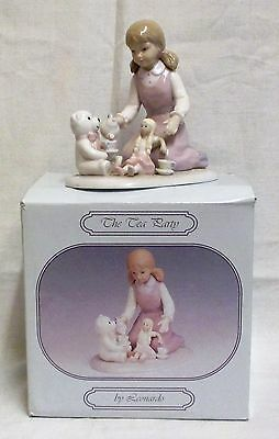 Vintage Boxed Leonardo Collection 'The Tea Party' Figurine By Annie Rowe