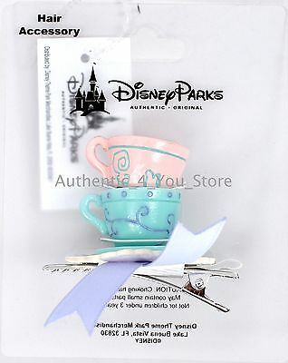 Disney Parks Alice in Wonderland Mad Tea Party Teacups Hair Clip Bow -Dress Shop