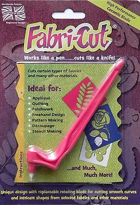FABRI-CUT The New Rotary Cutter! Quilt Fabric Quilting Applique Sugar Craft Cake