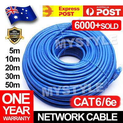 10m 20m 30m 50m Cat6 Network Ethernet Cable 100M/1000Mbps