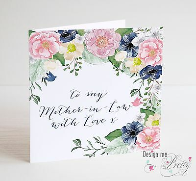 Handmade Mother In Law Birthday Thank You Card 299 Picclick Uk