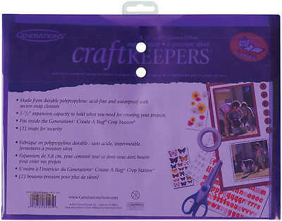 """Craft Keepers Snap Closure Envelope 8.5""""X11"""" Assorted Colors 85595"""