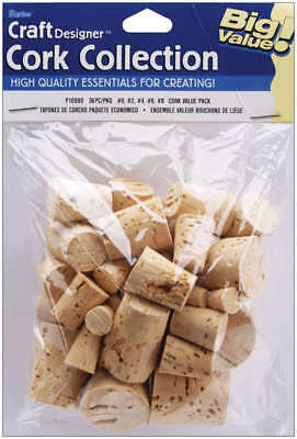 Cork Collection Stoppers Assorted 36/Pkg P10980