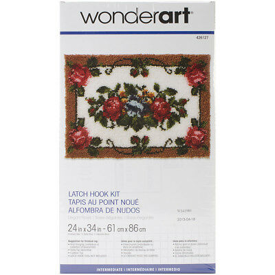 "Wonderart Latch Hook Kit 24""X34"" Elegant Roses 426127"