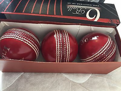 INDOOR RED CRICKET BALLS FOR Mens 4OZ (BOX OF 3)