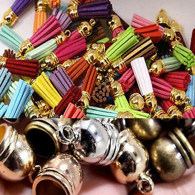 Brass  Accessories End Cap Beads Caps Findings 50pcs  Jewelry Necklace Making