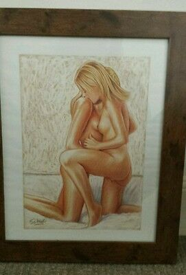 Large Original  Lesbian Art Pastels. Framed and signed by the artist.Not prints.