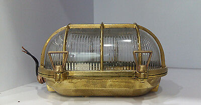 Vintage Marine Nautical Light Brass ship Wall & Celling Oval Passage Light 1 pc