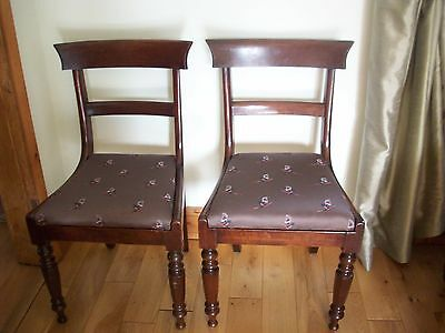 Pair Of Antique Mahogany & Oak Chairs