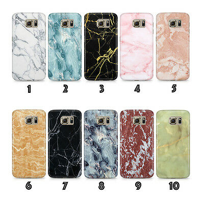 New Phone Case Cover Marble Designs for Samsung Galaxy S6 S7 Edge S8 S9 Plus!!