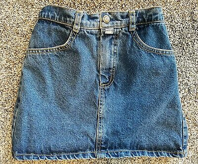 Vintage 90's Baby GUESS JEANS USA Girls Denim Jean Skirt Size 6 X