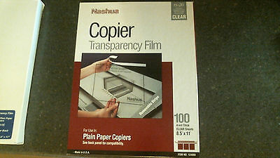 """Nashua Rs-20 Overhead Copier Clear Transparency Film 8.5"""" X 11"""" 100 Sheets"""