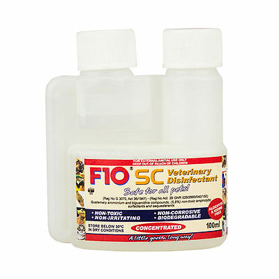 F10 SC 100ml Veterinary Disinfectant Birds Bird Cages Cage Cleaner Reptile Safe