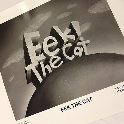 Eek! The Cat Fox Children's Network promotional Photo 1992 RARE 8x10 glossy B&W