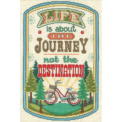 """The Journey Counted Cross Stitch Kit 8""""X12"""" 14 Count DW2901"""