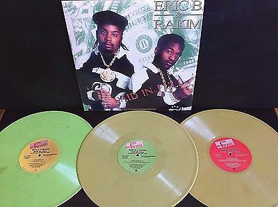 Eric B. & Rakim ‎- Paid In Full - Platinum Ltd Edition - 3 x Coloured Vinyl LP