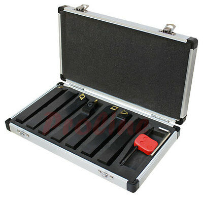 7 Pc 5/8'' Indexable Carbide Turning Lathe Tool Set SCLCL SDJCR SWGCR SDNCN