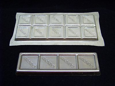 (2) Vintage HERSHEY'S CHOCOLATE Candy Bar Moulds / Molds METAL
