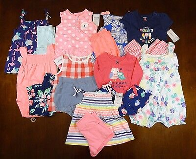 9 Carter's Outfit Sets brand new! 12 months spring summer shirts shorts #619