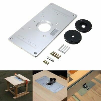 Aluminum Metal Sliver Router Table Insert Plate Insert Rings for Woodworking DIY