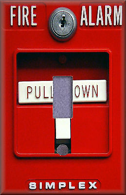 Fire Alarm Pull Station I Light Switch Plate Cover Wall Decor