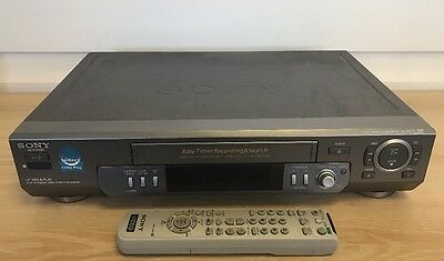 Serviced Sony SLV-EZ11 Video Recorder Player With REMOTE VHS Player VCR